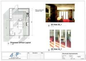 3-Proposed plans showing floor plans and CGI's